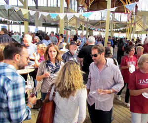 Attendees tasting the best of Prince Edward County at the historic Crystal Palace